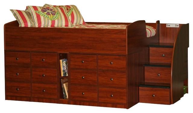 Berg Furniture Sierra Full Captain's Bed transitional-beds