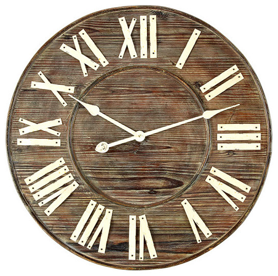 Distressed European Wall Clock traditional-clocks