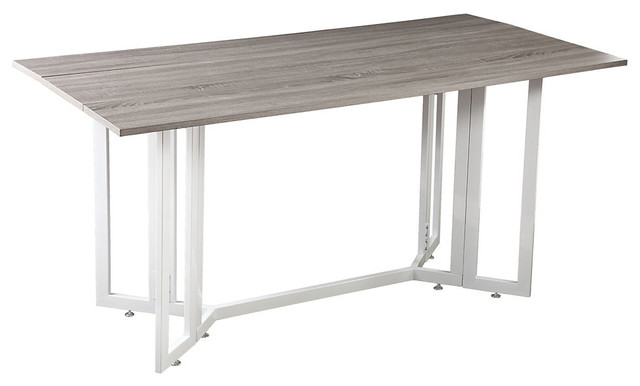 Driness Drop Leaf Table Weathered Gray Contemporary Dining Tables By S