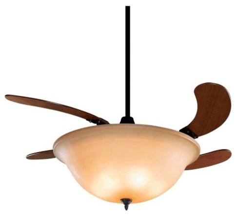 Fanimation FP810AM Air Shadow 43 in. Indoor Ceiling Fan - Oil Rubbed Bronze contemporary-ceiling-fans