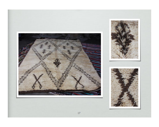 carpets from morocco - 3meter x 2 meter brown and cream plush natural wool carpet hand woven in atals mountains