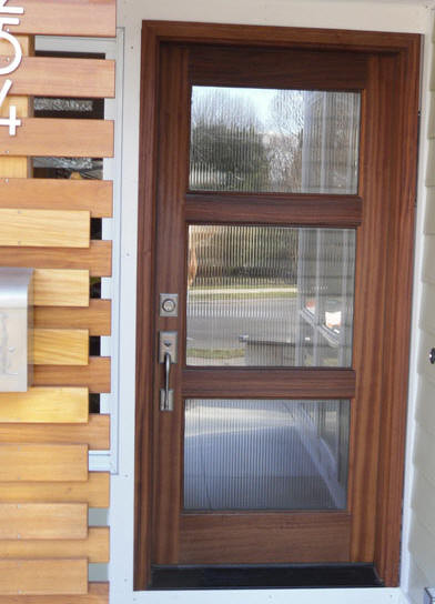 Wood and glass entry door modern front doors other for Glass door in front of front door