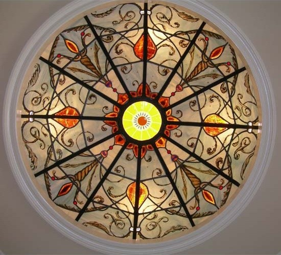 Seville Stained Glass Dome traditional-chandeliers