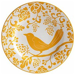 Yellow Bird Plate eclectic dinnerware