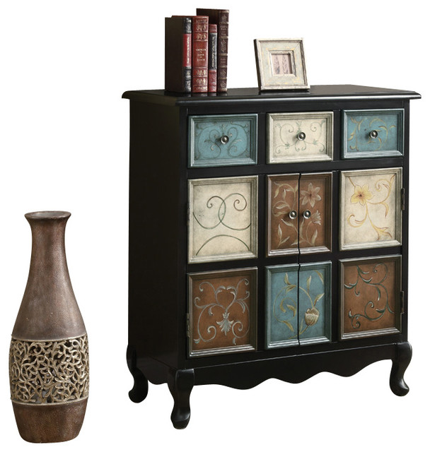 Monarch Specialties 3893 Bombay Chest in Multicolor - Traditional - Dressers Chests And Bedroom ...