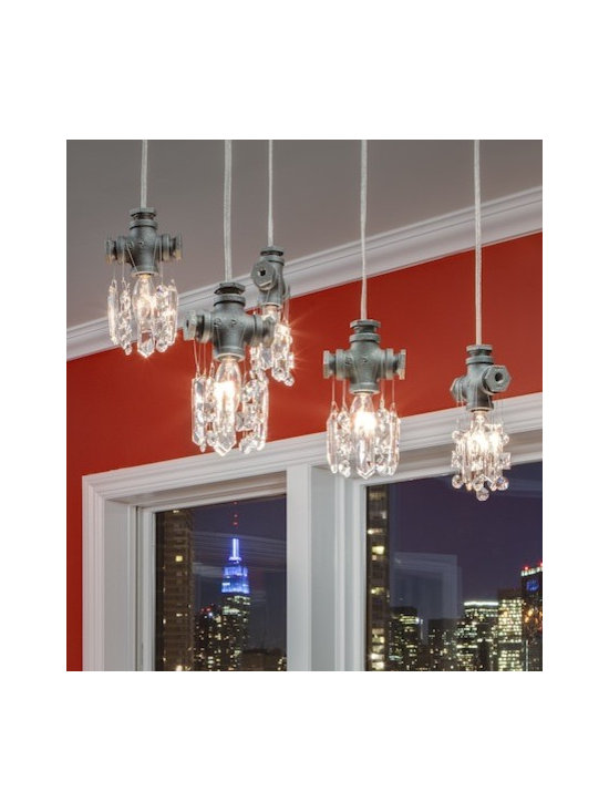 Michael McHale Designs - Several Tribeca Collection Single-Bulb Pendants -