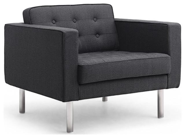 Chelsea Dark Grey Premium Armchair modern-armchairs-and-accent-chairs