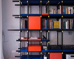 Red Blue Shelf  wall shelves