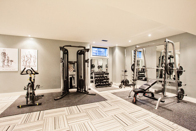 funky fresh basement contemporary home gym other metro by