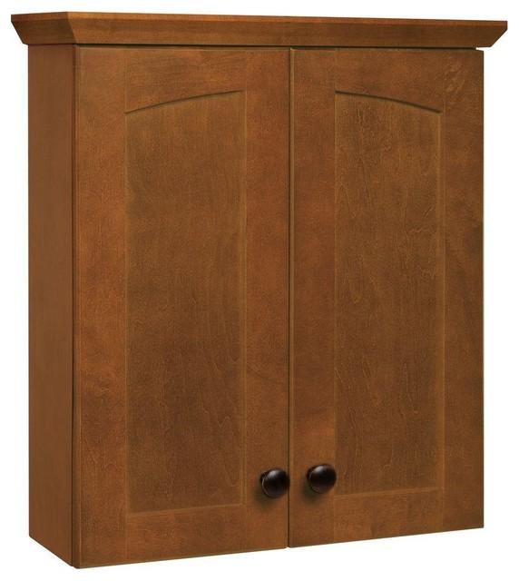 glacier bay cabinets melborn 19 in w bath storage cabinet in chestnut