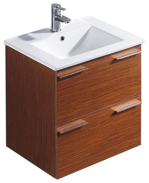 Vigo 24 inch ophelia single bathroom vanity wenge - Contemporary bathroom vanities without tops ...