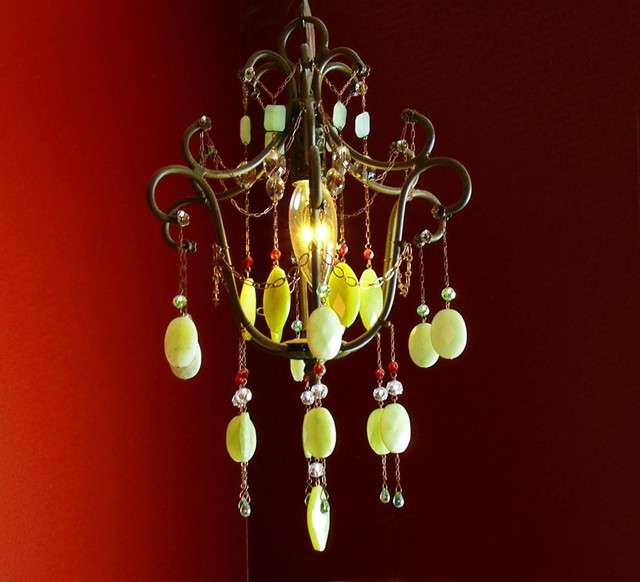 Carman Residence eclectic-chandeliers