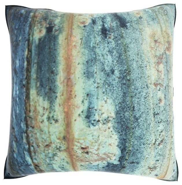 Textured Rust Surface 18-inch Velour Throw Pillow contemporary-decorative-pillows