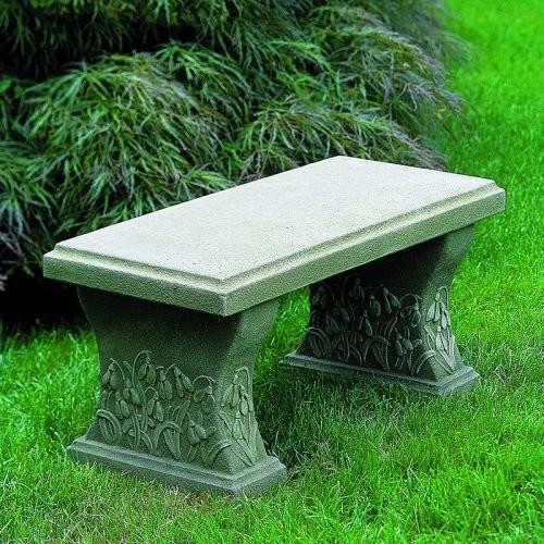 Campania International Snowdrop Cast Stone Backless Garden