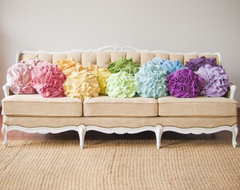 Custom Color Ruffle Rose Pillow, Small by That Funky Boutique eclectic-pillows