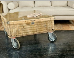 Pigeon Basket Coffee Table eclectic-coffee-tables
