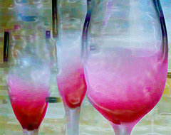 Pink Summer - modern art, contemporary art, canvas art, wall art, art print contemporary-artwork