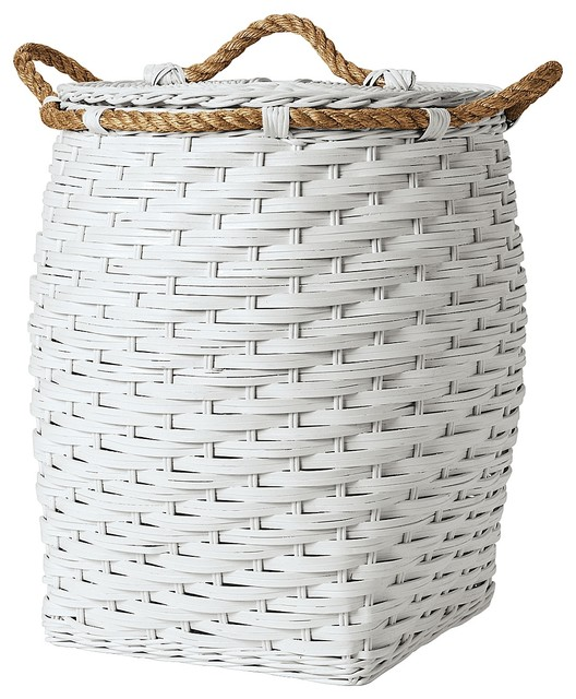 Rope Hamper, White - Traditional - Kids Hampers - by Serena & Lily