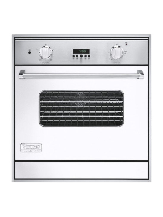 """Viking 30"""" Single Gas Wall Oven, White Natural Gas 