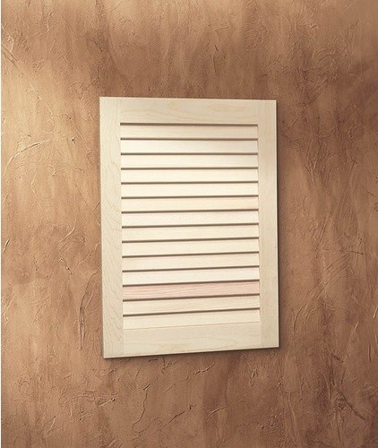 Basic Louver Single Recessed Cabinet with - Modern - Bathroom Cabinets And Shelves