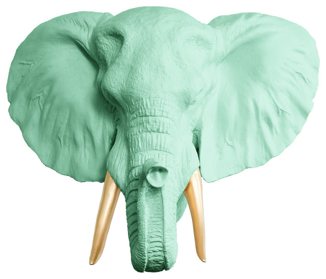 Gold Elephant Wall Decor : Elephant wall decor mint green and gold standard