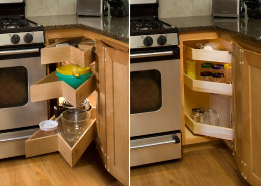 Glide-Around Pull Out Shelving Corner Unit