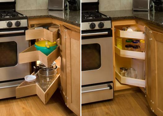 Glide-Around Pull Out Shelving Corner Unit kitchen-drawer-organizers