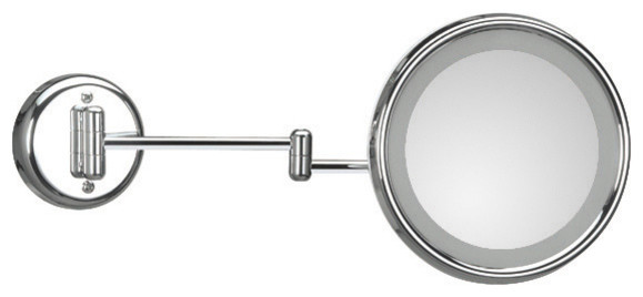 Lucciolo 20-2 Magnifying Mirror 3x with Incandescent Lamp contemporary-bathroom-mirrors