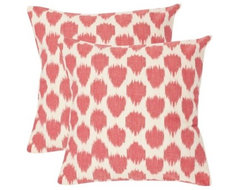 Safavieh Sarra Rose Red Decorative Pillows - Set of 2 modern pillows