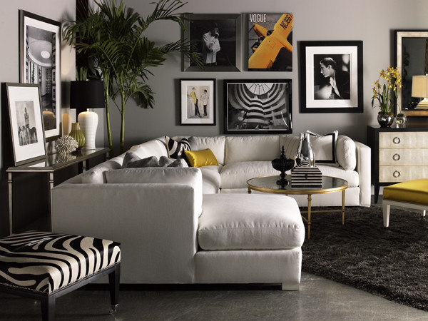 Lillian August Fine Furniture Sectional Sofas chicago