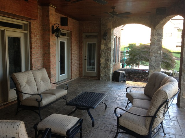 Decks, Landscapes and Outdoor Living traditional-porch