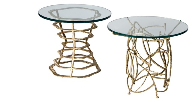 Silas Seandel Volcano & Twigs End Tables eclectic-side-tables-and-end-tables