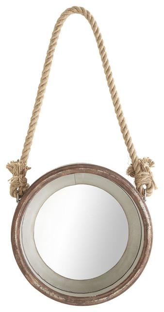 Hanging porthole mirror beach style by wisteria for Porthole style mirror
