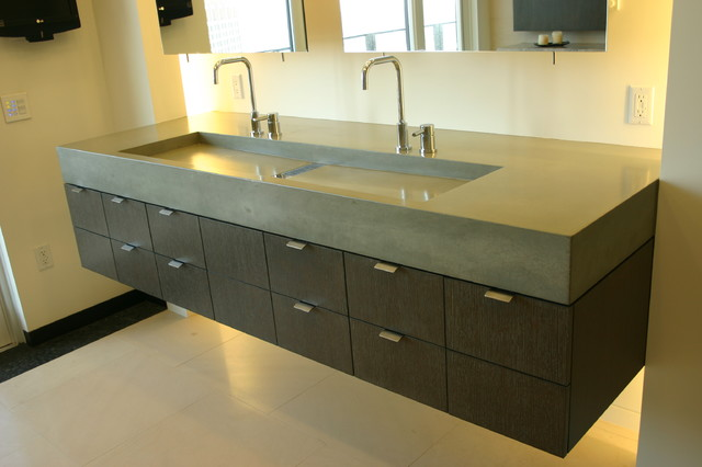 Concreteworks modern bathroom