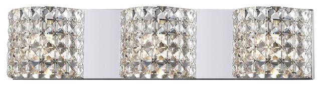 Z Lite 867 3V 3 Light Crystal Vanity Light Contemporary Bathroom Vanity L