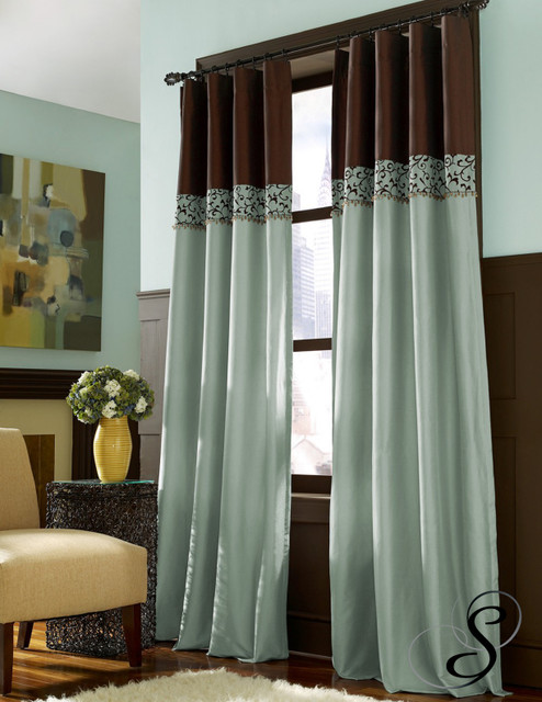 Chocolate Brown And Teal Curtains Home The Honoroak
