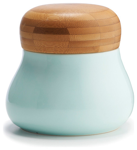 Mano Storage Jar Medium, Blue contemporary-kitchen-canisters-and-jars