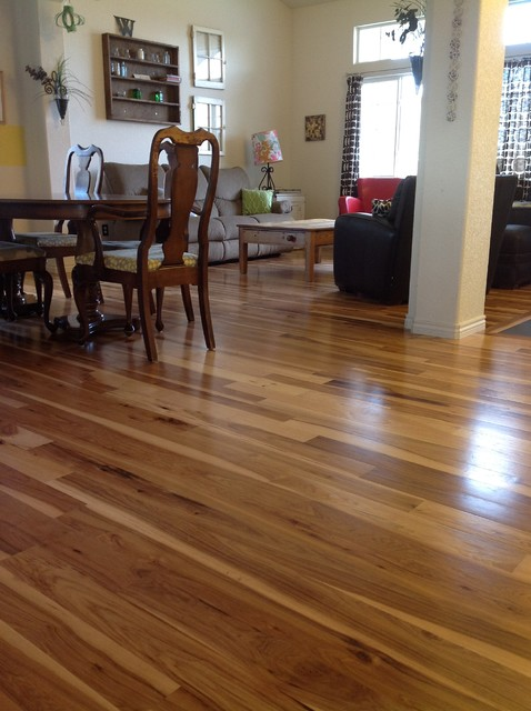 Hickory Flooring - Traditional - Family Room - denver - by Magnus ...