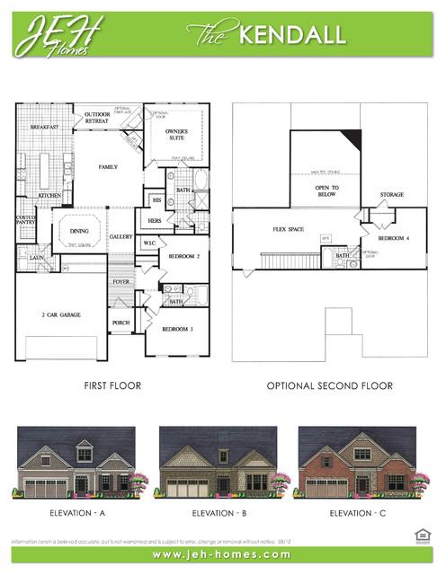 Kendall floor plan traditional floor plan atlanta for Kendall homes floor plans