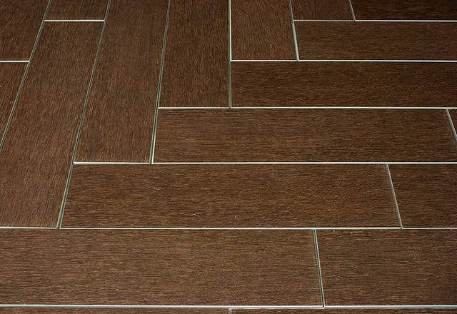 Mahogany Wood Plank Porcelain Modern Wall And Floor Tile Other Metro By Tile Stones