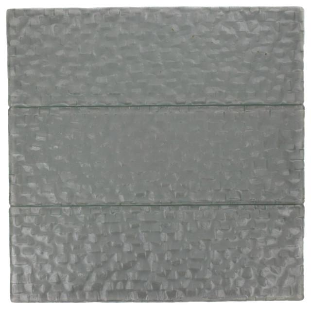 Terrene Snow Cap 4x12 Glass Tile asian-tile