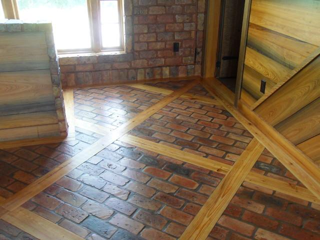 Old chicago brick floor for Floor brick