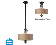 HGTV Veronica Semi-Flush / Pendant  pendant lighting