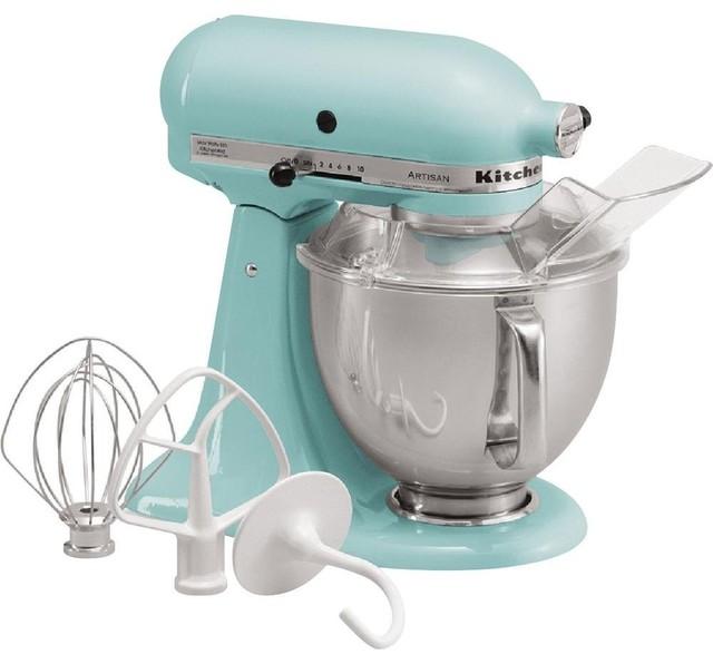 KitchenAid KSM150PSCL Artisan Series 5-Quart Mixer, Aqua Sky contemporary-mixers