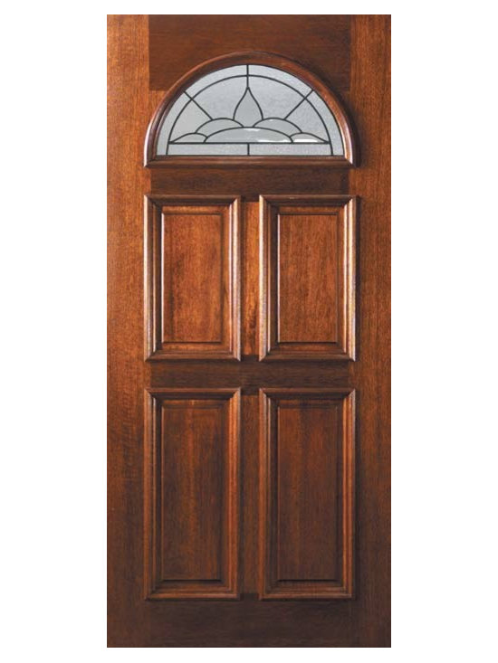 "Pre-hung Entry Single Door 80 Mahogany Cameo 4 Panel Fan Lite Glass - SKU#    L12525-DLFC1Brand    GlassCraftDoor Type    ExteriorManufacturer Collection    Fan Lite Entry DoorsDoor Model    CameoDoor Material    WoodWoodgrain    MahoganyVeneer    Price    1705Door Size Options    36"" x 80"" (3'-0"" x 6'-8"")  $0Core Type    Door Style    Door Lite Style    Fan LiteDoor Panel Style    4 PanelHome Style Matching    Door Construction    LegacyPrehanging Options    PrehungPrehung Configuration    Single DoorDoor Thickness (Inches)    1.75Glass Thickness (Inches)    Glass Type    Triple GlazedGlass Caming    BlackGlass Features    Tempered , BeveledGlass Style    Glass Texture    Glass Obscurity    Door Features    Door Approvals    Wind-load Rated , FSC , TCEQ , AMD , NFRC-IG , IRC , NFRC-Safety GlassDoor Finishes    Door Accessories    Weight (lbs)    310Crating Size    25"" (w)x 108"" (l)x 52"" (h)Lead Time    Slab Doors: 7 Business DaysPrehung:14 Business DaysPrefinished, PreHung:21 Business DaysWarranty    One (1) year limited warranty for all unfinished wood doorsOne (1) year limited warranty for all factory?finished wood doors"