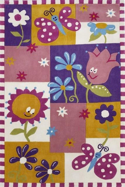 "Kids Kolorful Kidz 7'6""x9'6"" Rectangle Multi Color Area Rug contemporary-kids-rugs"