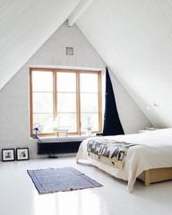 Walls, Windows & Floors: Vintage Rugs on White Floors : Remodelista
