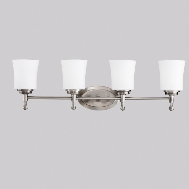 Kichler Lighting 5362ni Wharton Four Light Bath Fixture Transitional Bathroom Vanity
