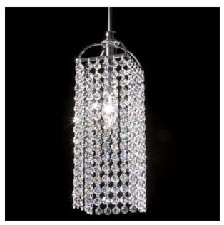 Tekno Mini Bravo Clear Crystal Pendant contemporary pendant lighting