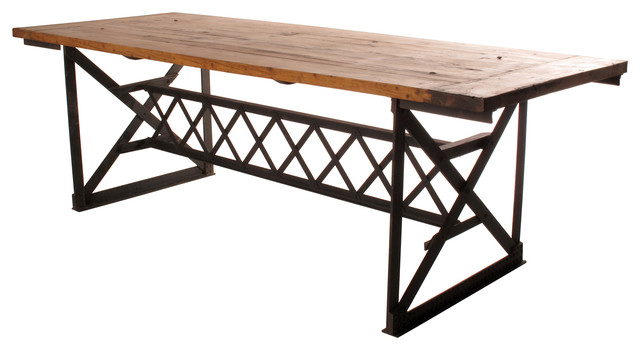 Riveter's Industrial Modern Chunky Wood Dining Table - eclectic